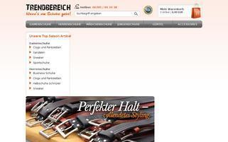 Trendbereich Webseiten Screenshot