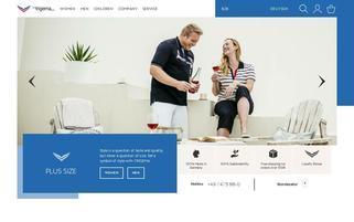 Trigema Webseiten Screenshot