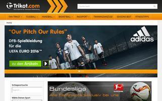 Trikot.com Webseiten Screenshot