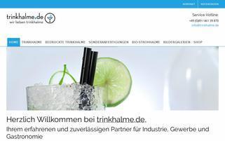 Trinkhalme.de Webseiten Screenshot