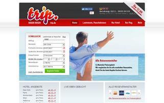 trip.de Webseiten Screenshot
