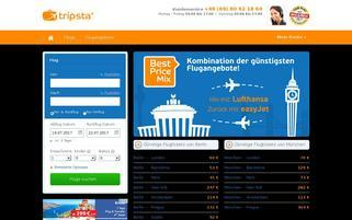 tripsta Webseiten Screenshot