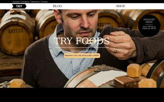 Try Foods Webseiten Screenshot
