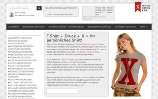tshirt-druck-x.de Webseiten Screenshot