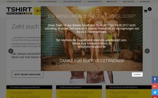tshirt-druck24.de Webseiten Screenshot
