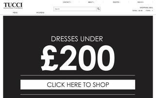 Tucci Store Webseiten Screenshot