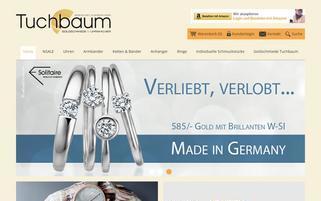 tuchbaum-shop.de Webseiten Screenshot