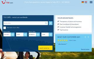 TUI Cars Webseiten Screenshot