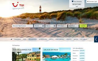 TUI Ferienhaus Webseiten Screenshot