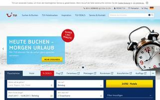 TUI Webseiten Screenshot