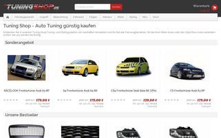tuningshop.de Webseiten Screenshot