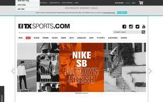 TX Sports Webseiten Screenshot
