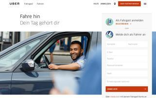 Uber Webseiten Screenshot