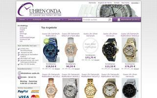 Uhren Onda Webseiten Screenshot