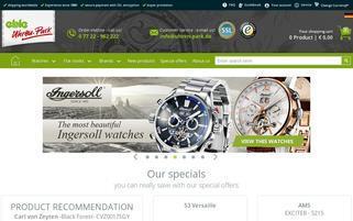 Uhren-Park Webseiten Screenshot