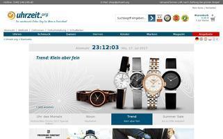 uhrzeit.org Webseiten Screenshot