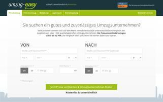 umzug-easy Webseiten Screenshot
