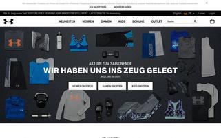 Under Armour Webseiten Screenshot