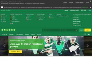 Unibet Webseiten Screenshot