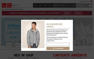 uniqlo Webseiten Screenshot