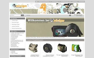 Unisign Webseiten Screenshot