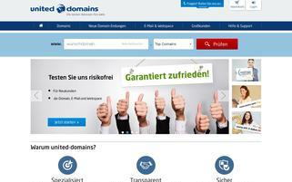 united-domains Webseiten Screenshot