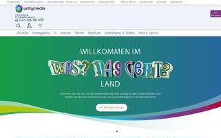 Unitymedia Webseiten Screenshot