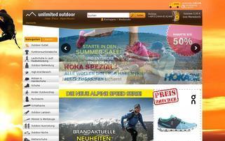 unlimited-outdoor.de Webseiten Screenshot