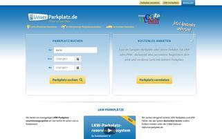 Unserparkplatz.de Webseiten Screenshot