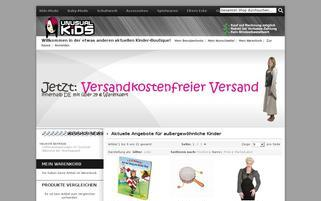 unusual-kids.de Webseiten Screenshot