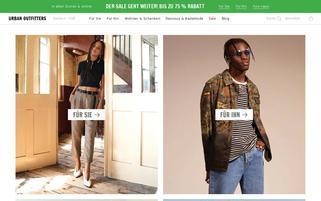 Urban Outfitters Webseiten Screenshot