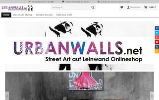 Urbanwalls Webseiten Screenshot