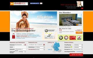 Urlaubswerk Webseiten Screenshot
