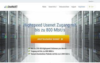 UseNext Webseiten Screenshot