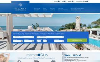 Valamar Webseiten Screenshot