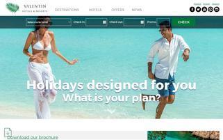 ValentinHotels Webseiten Screenshot