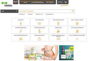 Vamida Webseiten Screenshot