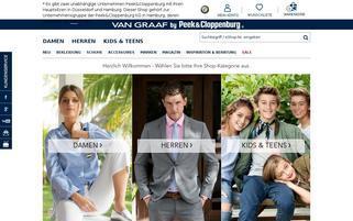 Van Graaf Webseiten Screenshot