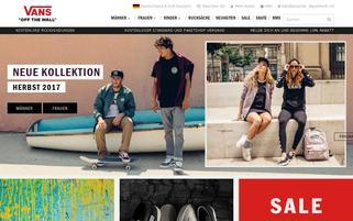 Vans Webseiten Screenshot