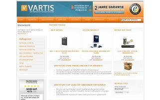 Vartis Webseiten Screenshot