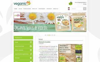 veganic Webseiten Screenshot