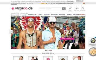 Vegaoo Webseiten Screenshot