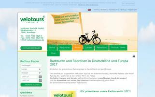 Velotours Webseiten Screenshot