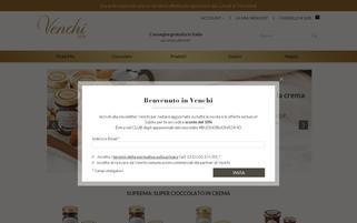 Venchi Webseiten Screenshot