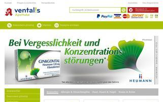 Ventalis Webseiten Screenshot