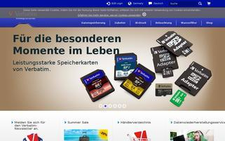 Verbatim Webseiten Screenshot