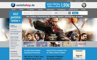 Verleihshop Webseiten Screenshot