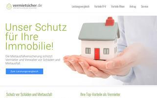 Vermietsicher Webseiten Screenshot