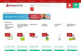 Versandapotheke Webseiten Screenshot