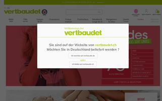 Vertbaudet CH Webseiten Screenshot